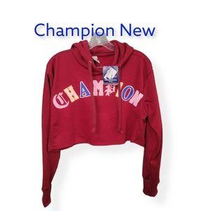 Champion Hooded Crop Sweatshirt New